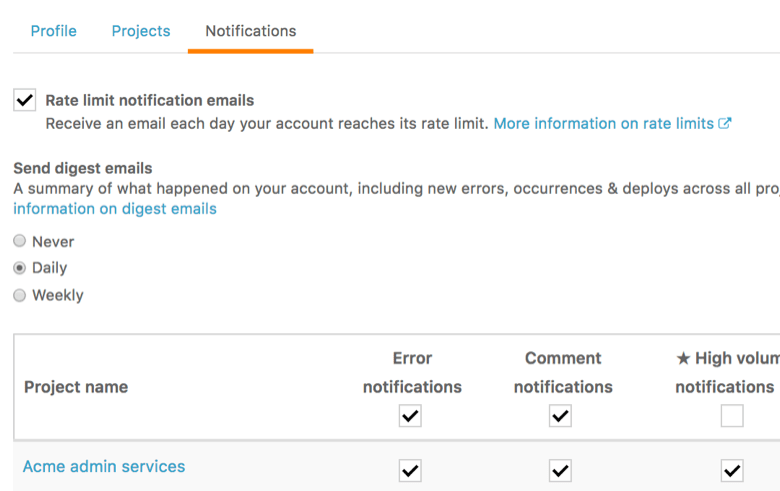 Airbrake's Notifications